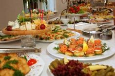Weddings Receptions Foods Tables Display | Wedding Food  ----good site