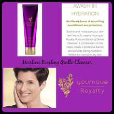 Give your skin the Royal Treatment! Boost hydration by cleansing skin with Younique Royalty Moisture Boosting Gentle Cleanser! A unique blend of oils gives your skin the moisture it craves while special vitamins & plant extracts clean skin & help reduce the appearance of age spots. Created for Normal to Dry Skin. Available for purchase mid September 2016! I am so excited about these products!  #YouniqueRoyalty #ClickImageToShop #Questions #EmailMe sarahandbrianyounique@gmail.com or comment…