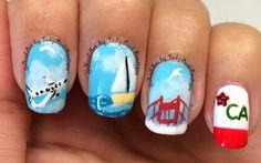 San Francisco nails, California. #nails #nailart