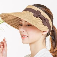Summer Hats For Women Wide Brim With Bow Sun Hat For Beach Outdoor Straw Hat Female Tennis Visor Chapeu Feminino Toca 2018