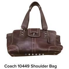 Coach brown leather shoulder bag Coach brown leather shoulder bag Coach Bags Shoulder Bags