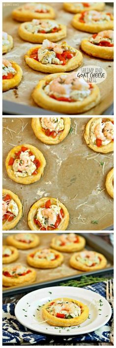 Shrimp and Goat Cheese Tarts! Shrimp, puff pastry, peppers, and goat cheese. AMAZING! | The Cookie Rookie