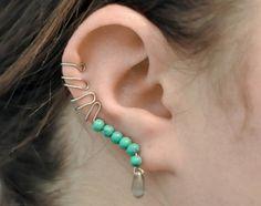 How to make a cuff earring. Beaded Ear Cuff - Step 8