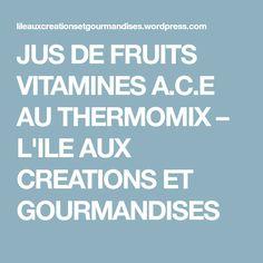 JUS DE FRUITS VITAMINES A.C.E AU THERMOMIX – L'ILE AUX CREATIONS ET GOURMANDISES