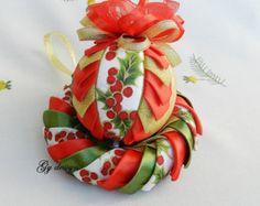Escocesa de Navidad adorno Navidad adorno tela de por Gydesi