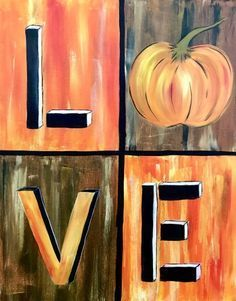 Paint Nite Love Fall Painting