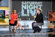 Fox News anchor Maria Bartiromo (L) and actor Darrell Hammond visit Fox Business Network at FOX Studios on June 15, 2016 in New York City.