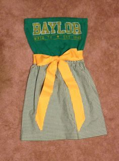 Baylor University Game Day Dress Green Gold by CheerItUp on Etsy, $55.00