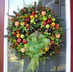 Williamsburg Fruit & Berries Thanksgiving~Christmas~Kitchen Wreath