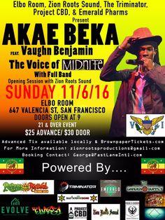 #AkaeBeka #LivicatedTour #AkaeBekaTour #AkaeBekaLive #VaughnBenjamin #Midnite #USVI #VIReggae #AkaeBekaSanfrancisco #BayAreaReggae