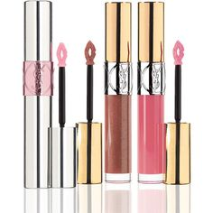 Saint Laurent Limited Edition Love Your Lips Set (€60) ❤ liked on Polyvore featuring beauty products, makeup, lip makeup, lip gloss, yves saint laurent, shiny lip gloss, lip gloss makeup and lip shine