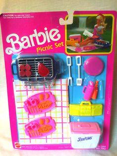 Barbie on pinterest barbie collector barbie dolls and for Barbie kitchen set 90s