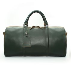 35a736661e Buy online  BRUNE FOREST GREEN  LEATHER  DUFFLE  Gym Duffle bag