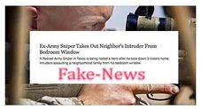 """Fake-News:  """"Ex-Army Sniper Takes Out Neighbor's Home Intruder From Bedroom Window"""""""