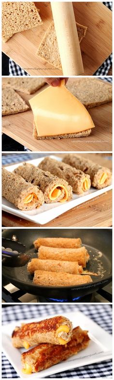 Yummy and Fun --> Grilled Cheese Roll Ups, just add tomato soup #appetizer #comfort