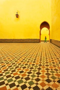 Morocco  http://www.friendlyplanet.com/media/gallery/africa/morocco/yellow-wall-meknes-morocco-big.jpg