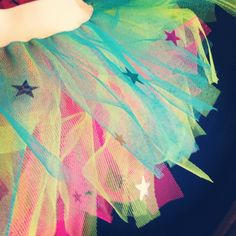 Neon tutu with star sequins  tutufactory.co.uk