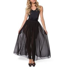Yoins Stretch Waistband Tulle Maxi Skirt ($12) ❤ liked on Polyvore featuring skirts, black, dresses, tulle skirt, long tulle skirt, floor length tulle skirt, elastic waistband skirt and tulle maxi skirt