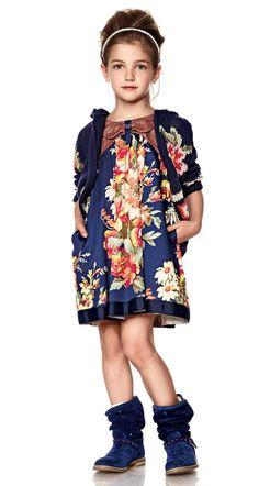 Twin-set Girl Spring Summer 2014, floral print dress