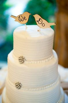 love the simple elegance of the cake itself. Maybe the birds in a different color, maybe.