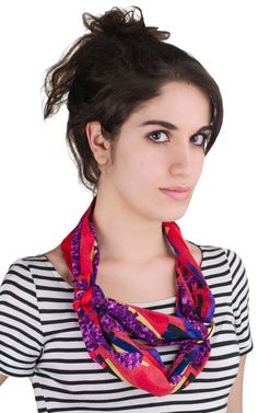 Hermes scarf to wear like this