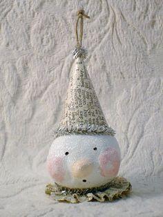 my little snowman ornament tutorial....