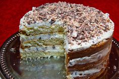 cannoli cake - not gluten free, but the traditional cannoli filling sounds good for the cannoli roll I pinned.