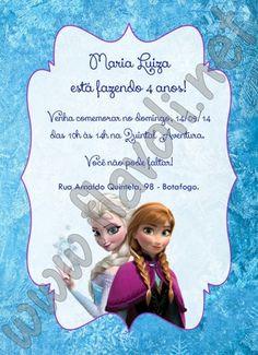 Convite Frozen  :: flavoli.net - Papelaria Personalizada :: Contato: (21) 98-836-0113 vendas@flavoli.net