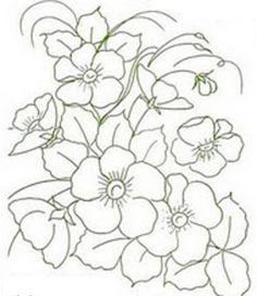 Pintura em Tecido, Riscos, Dicas, Materiais e Passo a Passo: Riscos Desenhos Para Pintura em Tecido Flores