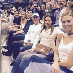 The gang's all here: Ivanka Trump and husband Jared attended the US Open on…