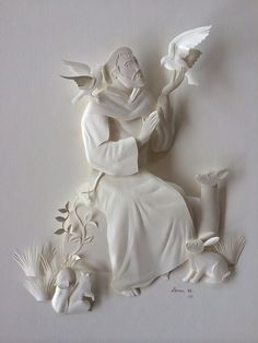 St Francis of Assisi White Paper Sculpture on Behance