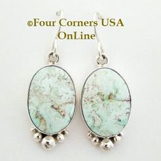 Four Corners USA Online - Dry Creek Turquoise Sterling Earrings Navajo Artisan Shirley Henry Native American Jewelry NAER-13052, $220.00 (http://stores.fourcornersusaonline.com/dry-creek-turquoise-sterling-earrings-navajo-artisan-shirley-henry-native-american-jewelry-naer-13052/)