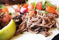 """Slow Cooker Barbacoa Beef. Barbacoa means whole beef or lamb slow cooked over an open fire. The term originiated in the Carribbean and is where the word """"barbecue"""" originated. This recipe is fabulous for tacos....shredded beef for burritos, etc. YUMMMMM."""