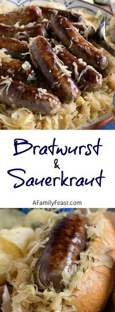and Sauerkraut Bratwurst and Sauerkraut - A simple dish with fantastic flavor! We share our tips to ensure a super flavorful meal.Bratwurst and Sauerkraut - A simple dish with fantastic flavor! We share our tips to ensure a super flavorful meal. Bratwurst Recipes, Sausage Recipes, Pork Recipes, Cooking Recipes, Sausage Meals, Brats And Sauerkraut, Sauerkraut Recipes, Sausage Sauerkraut, Bratwurst Sausage