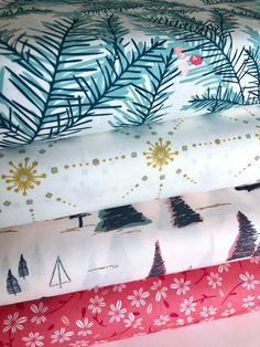 Merry & Bright COLLECTIVE Collection, AGF Bundle of 4 prints, Christmas Off White Fabric, Quilting Weight textile, Art Gallery Designer Fabric Yarn, Art Gallery Fabrics, Photo Lighting, Modern Prints, Merry And Bright, White Fabrics, Textile Art, Swatch, Quilting