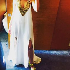 #Repost  #Instagram @stuteedixit styles our sexy white & gold #maxi to perfection :) #FavouriteGirl #fashionista #summer #glam