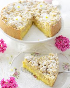 Kessy's Pink Sugar: Apfel Streuselkuchen mit Vanillepudding - Klassiker Kinderkuchen