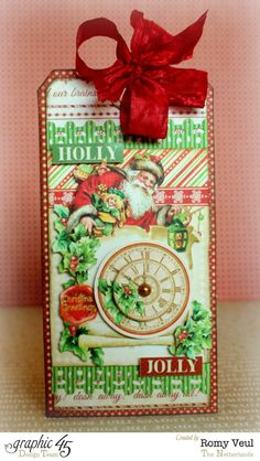 'Twas The Night Before Christmas tag by Romy - perfect addition to a gift! #graphic45
