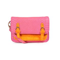 Pink + Orange Crossbody Bag