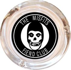 Misfits Glass Ashtray 'Fiend Club' Design