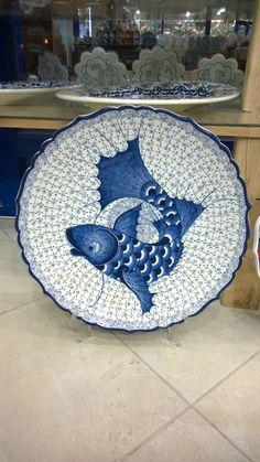 Haliç desen Tile Art, Tiles, Decorative Plates, Pottery, Ceramics, Fish, Drawings, Painting, Painted Porcelain