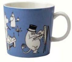 Mummikopp Blå Moomin Mug Blue / Muki Sininen 1990 – 1996 Moomin Mugs, Tove Jansson, Tableware, Store, Kitchen, Blogging, Dinnerware, Cooking, Tablewares