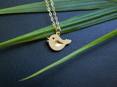 Bird Necklace, Tiny bird charm Necklace, Flower Girl Jewelry, Minimal Jewelry, GOLD FILLED, Child, Children Jewelry, Gift For Girl via Etsy