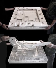 Architectural model with removable room by Claudio Vilarinho Architecture Model Making, Concept Architecture, School Architecture, Architecture Details, Interior Architecture, Chinese Architecture, Interior Design, Arch Model, Famous Architects