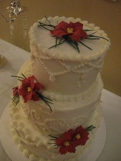 60th Christmas Wedding Anniversary Cake