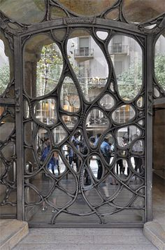Gaudi door, Barcelona