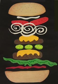 how to make a burger out of construction paper