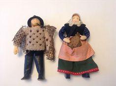 SET OF 2 VINTAGE CHARLOTTE WEIBULL HANDMADE SWEDISH DOLLS #Dolls