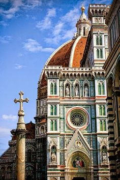 Cathedral of Santa Maria del Fiore, Catedral and Duomo, Florencia - Italia Places Around The World, Oh The Places You'll Go, Places To Travel, Around The Worlds, Travel Things, Travel Stuff, Florence Tuscany, Tuscany Italy, Italy Italy