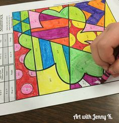 St. Patrick's Day math coloring sheets. Addition, subtraction, multiplication and division all included in this fun art integration lesson. Four designs, Shamrock, Pot of Gold, Leprechaun hat and lucky horseshoe.